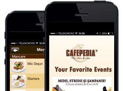 The first Café Mobile App in Romania